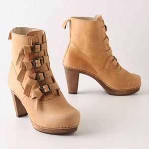 """Anthropologie """"Knotted Buckle Booties"""" by Sanita"""